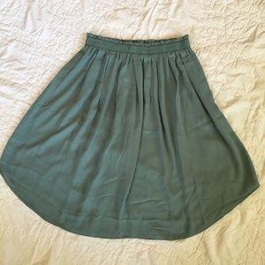 LOFT Seafoam Green Skirt Size XSP